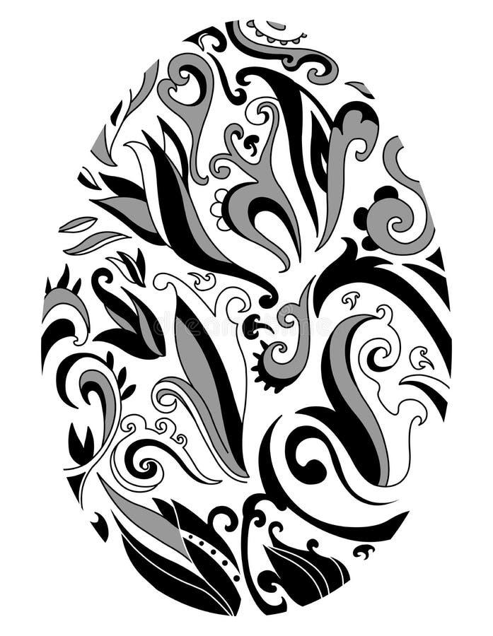 dekorativt easter ägg royaltyfri illustrationer