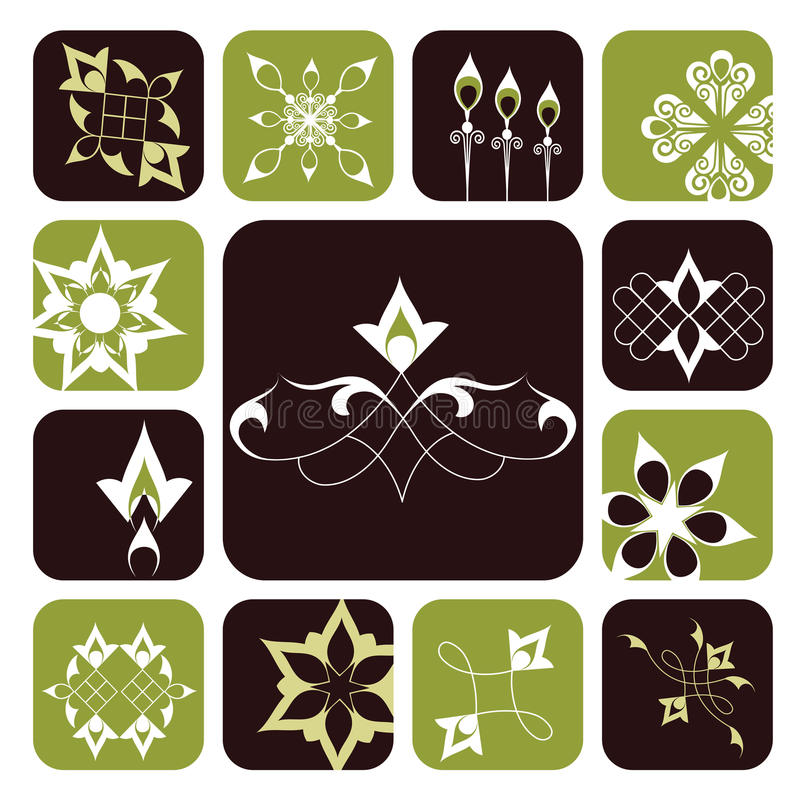 dekorativt elementdiagram vektor illustrationer