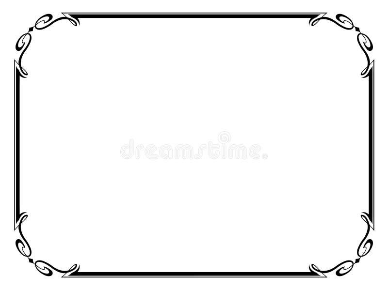 dekorativt enkelt för dekorativ ram vektor illustrationer