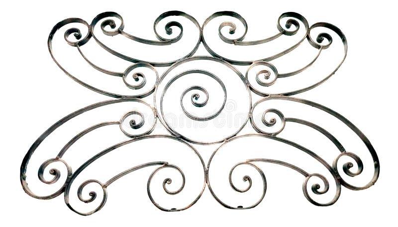 Dekorativt galler för metall som isoleras på vit arkivfoto