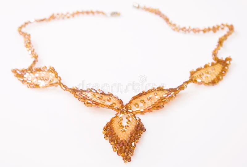 dekorativt halsband för pärla royaltyfri bild