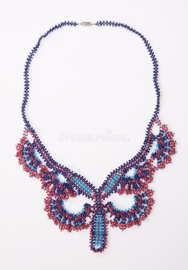 dekorativt halsband för pärla arkivfoton