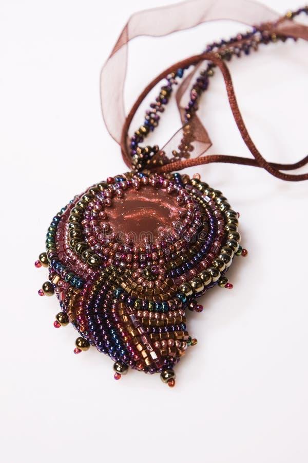 dekorativt halsband för pärla royaltyfri fotografi