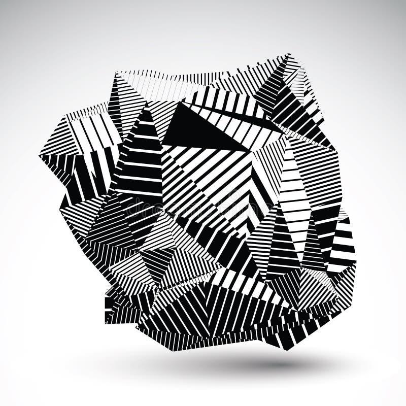 Dekorativt invecklat ovanligt diagram som eps8 konstrueras från tria royaltyfri illustrationer