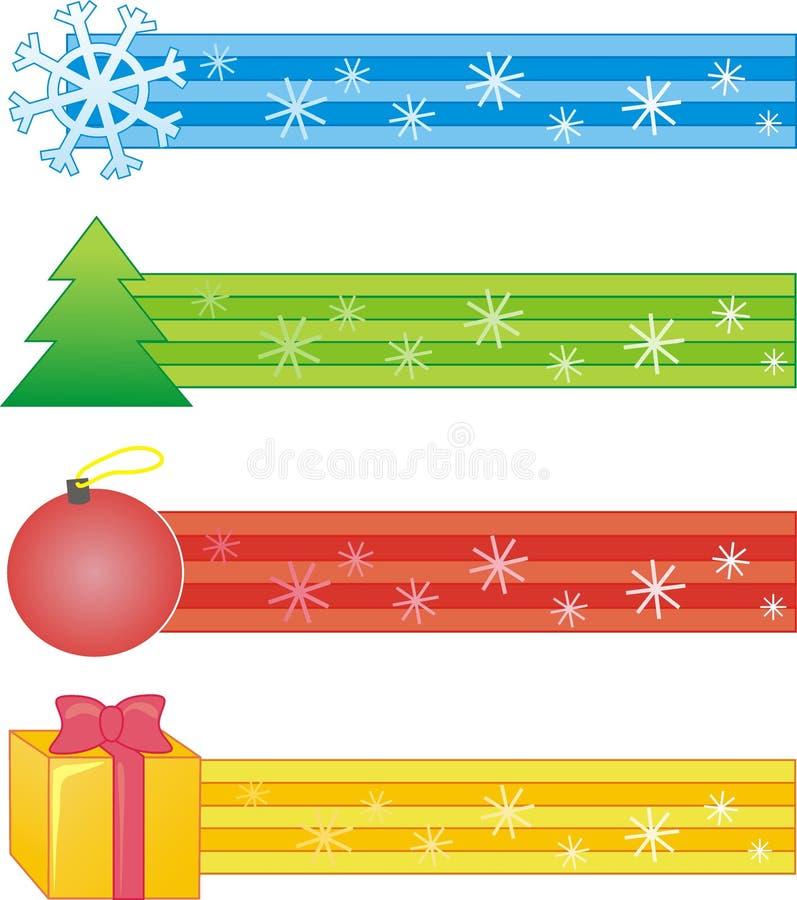dekorativt remsasymbol för jul arkivbild