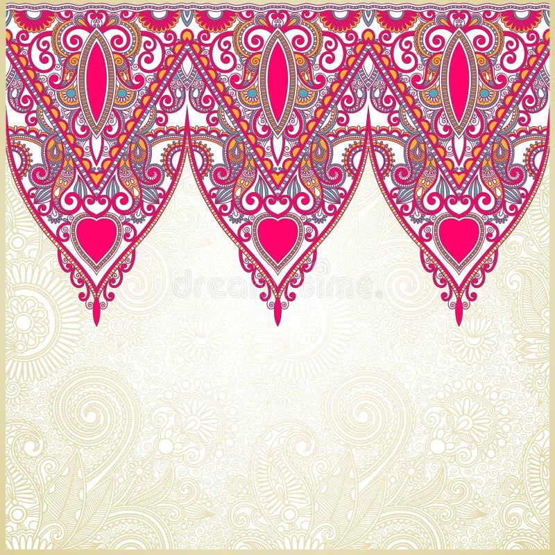dekorativt seamless band stock illustrationer