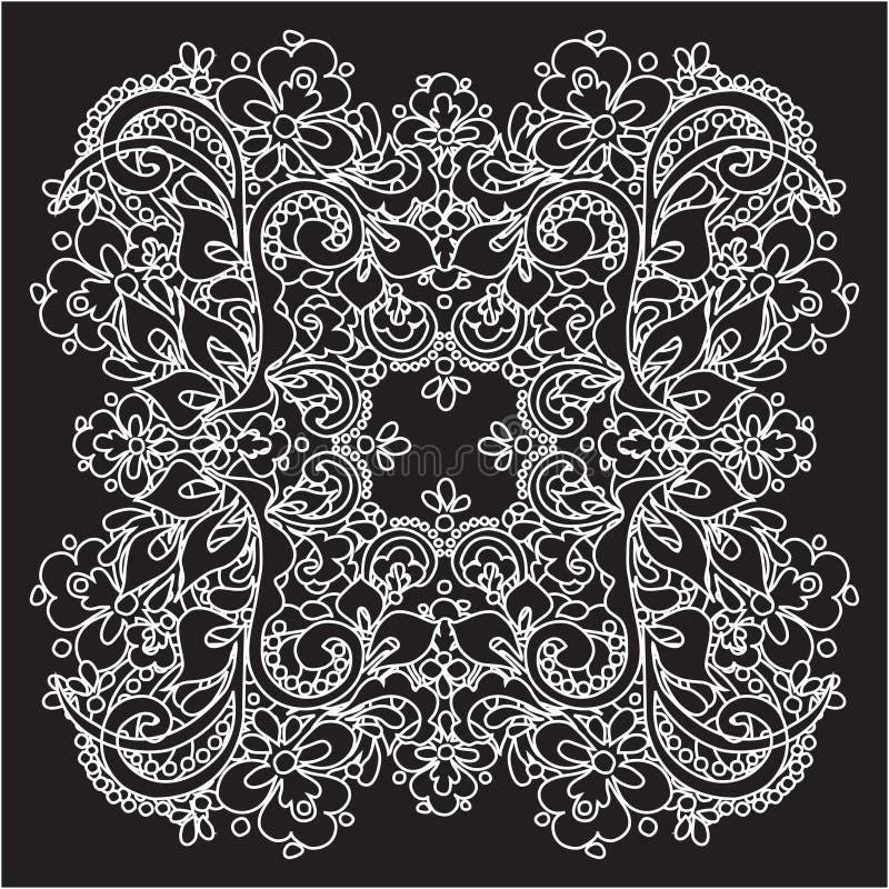 dekorativt snöra åt vektorn stock illustrationer