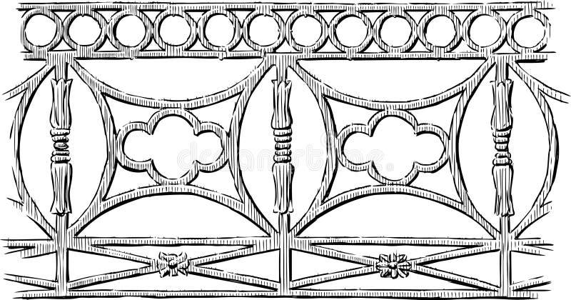 Dekorativt staket royaltyfri illustrationer