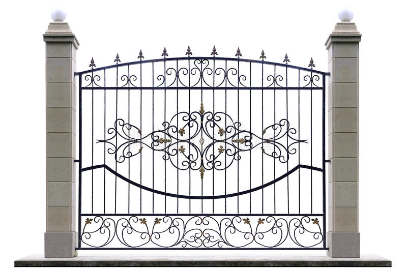 Dekorativt staket med pelaren arkivfoto