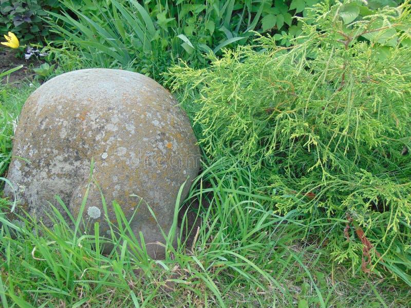 Dekorativt vagga i landskapdesignträdgård arkivbild