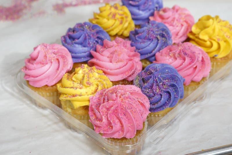 Dekorera för muffin fotografering för bildbyråer