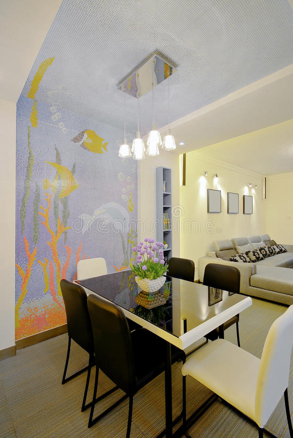 dekorera home modern stil royaltyfria foton
