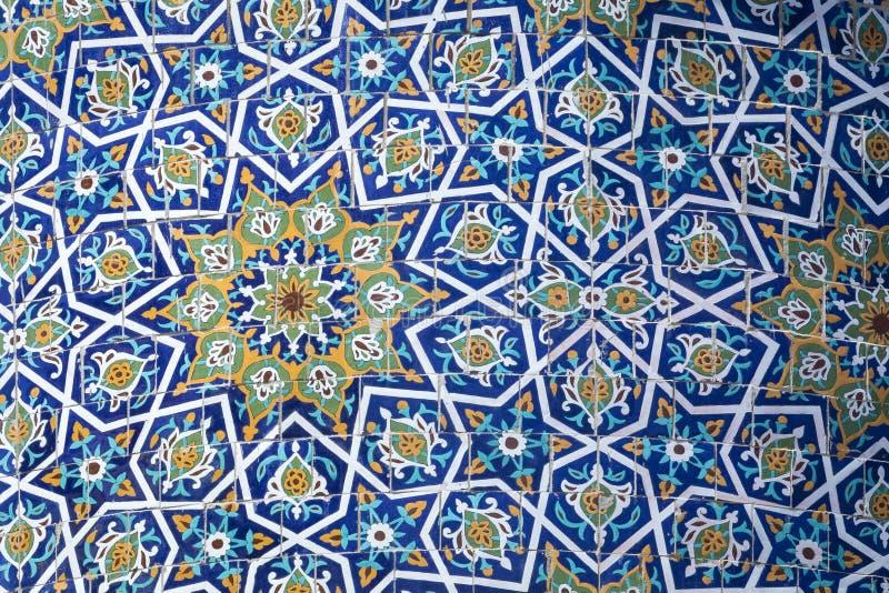 Dekorerad kupol på Barak Khan madrasah Hast Imam Square Hazrati arkivfoto