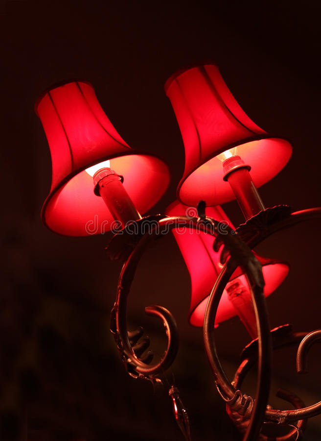 Dekorerad lampa royaltyfri fotografi