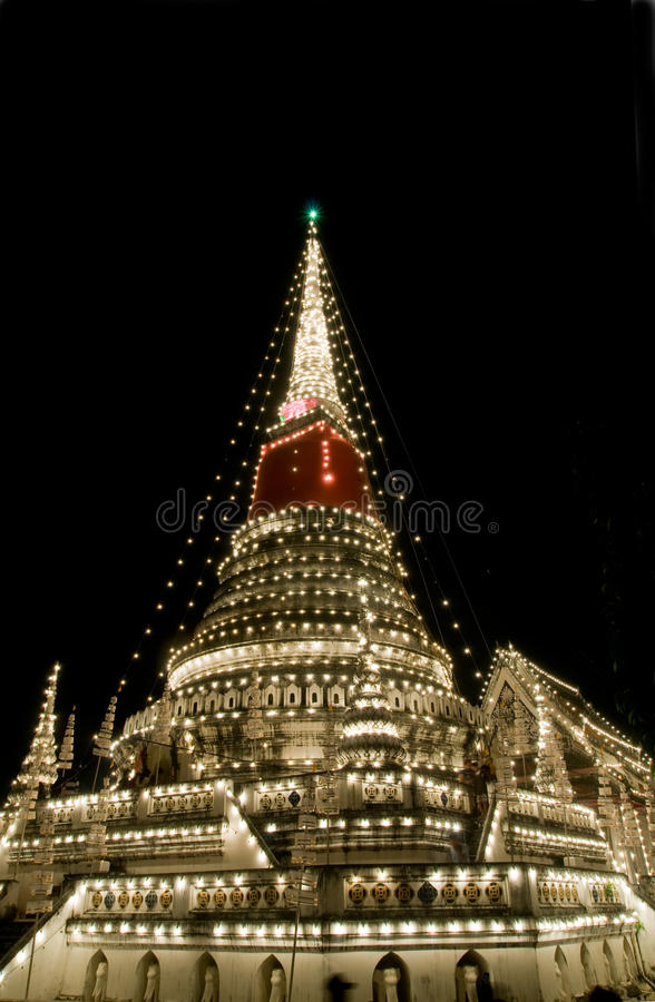 dekorerad stupa thailand royaltyfria foton