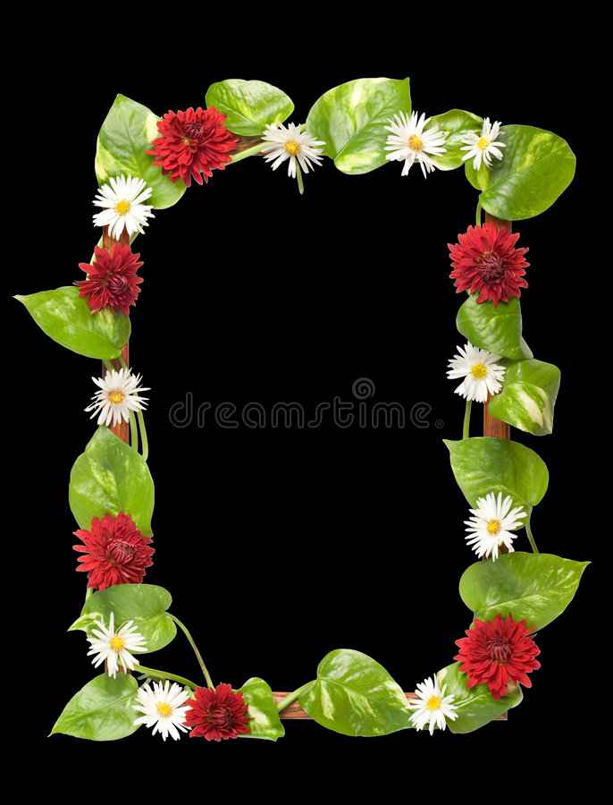 dekorerade blommaramleaves royaltyfri fotografi