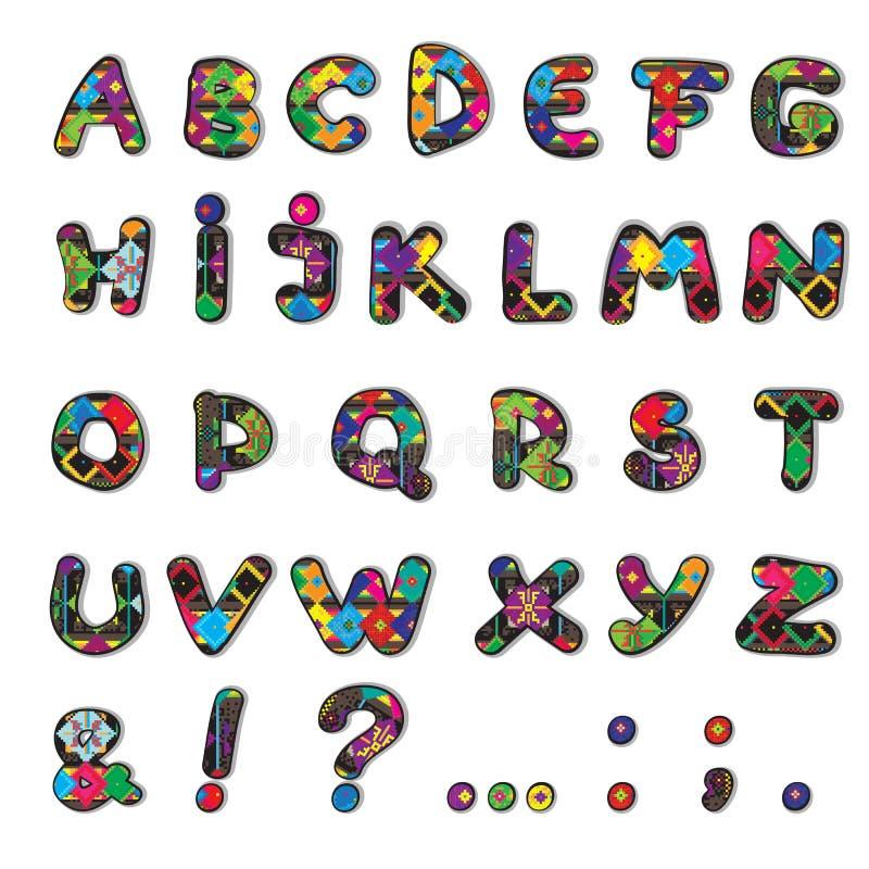 Dekorerade bokstäver royaltyfri illustrationer