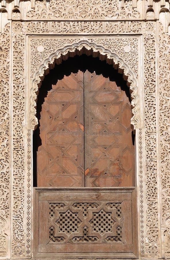 dekorerade dörrfes morocco royaltyfri foto