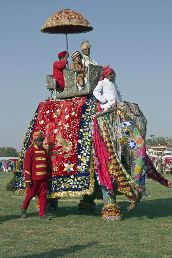 dekorerade elefantpassagerare arkivfoton