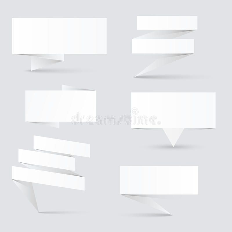 Dekorerade pappers- baner stock illustrationer