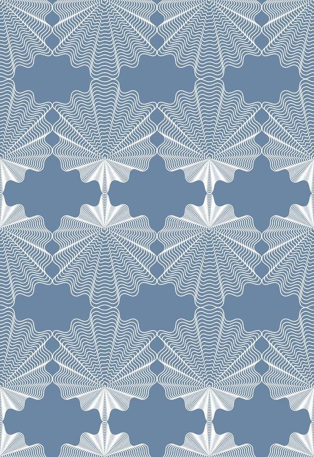 Dekorerar den dekorativa modellen för den gråa vektorn, sömlös konstbakgrund vektor illustrationer