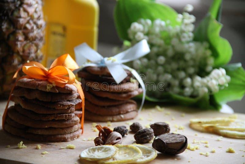 Dekorerar sötsaker, italiensk biscotti arkivfoto
