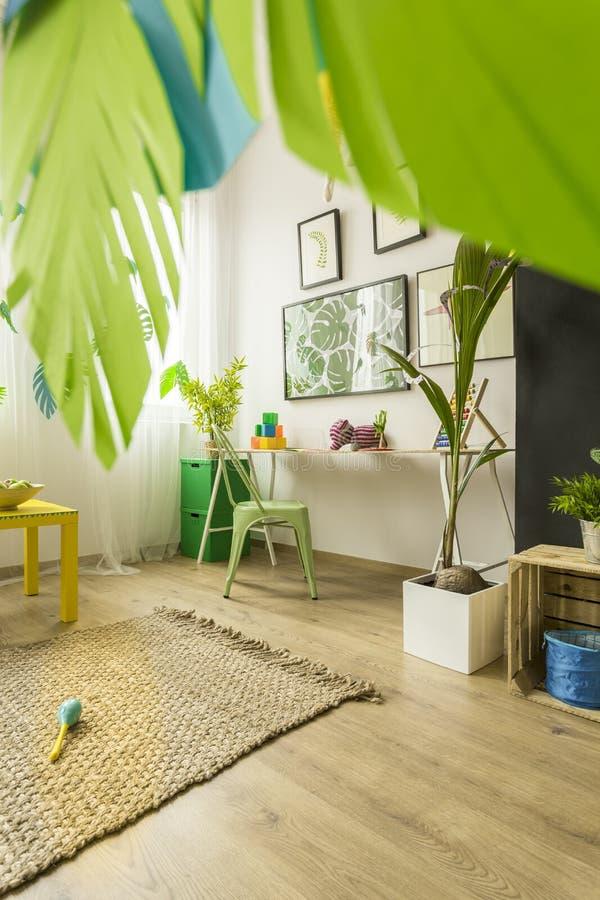 Dekorerat rum för barn royaltyfria foton