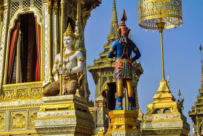 Dekorować crematorium dla Królewskiej kremaci ceremonii zdjęcie royalty free