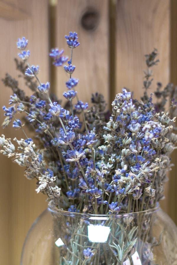 Dekorować z suchymi lawendowymi kwiatami zdjęcie stock