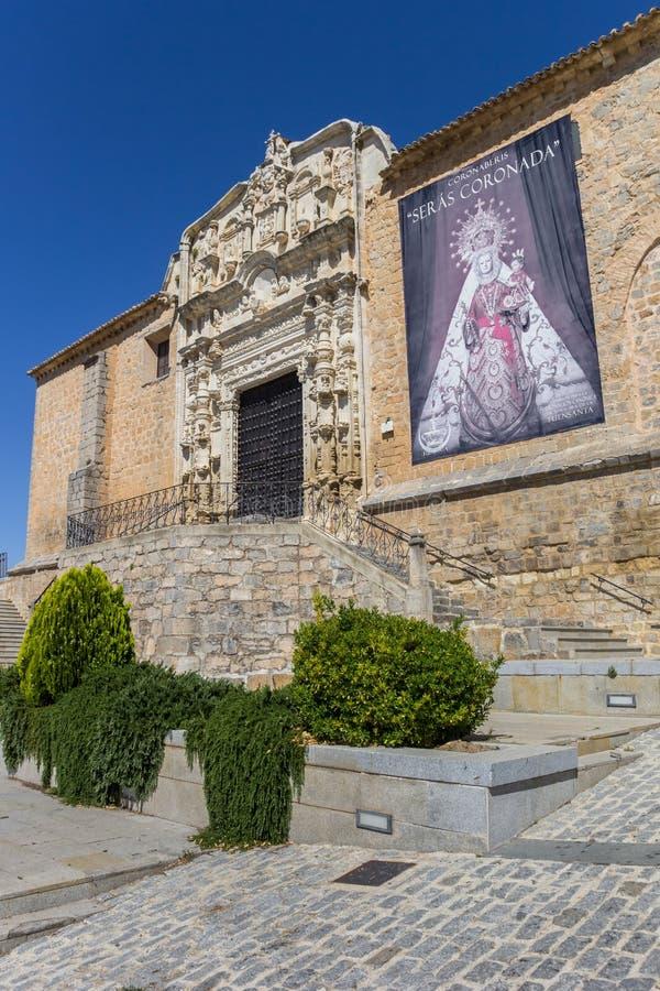 Dekorująca fasada Santa Maria kościół w Alcaudete fotografia royalty free