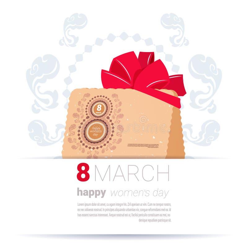 Dekorująca koperta Z 8 kobiet dnia szablonu Marcowego Szyldowego Szczęśliwego tła kartka z pozdrowieniami Kreatywnie projektem royalty ilustracja
