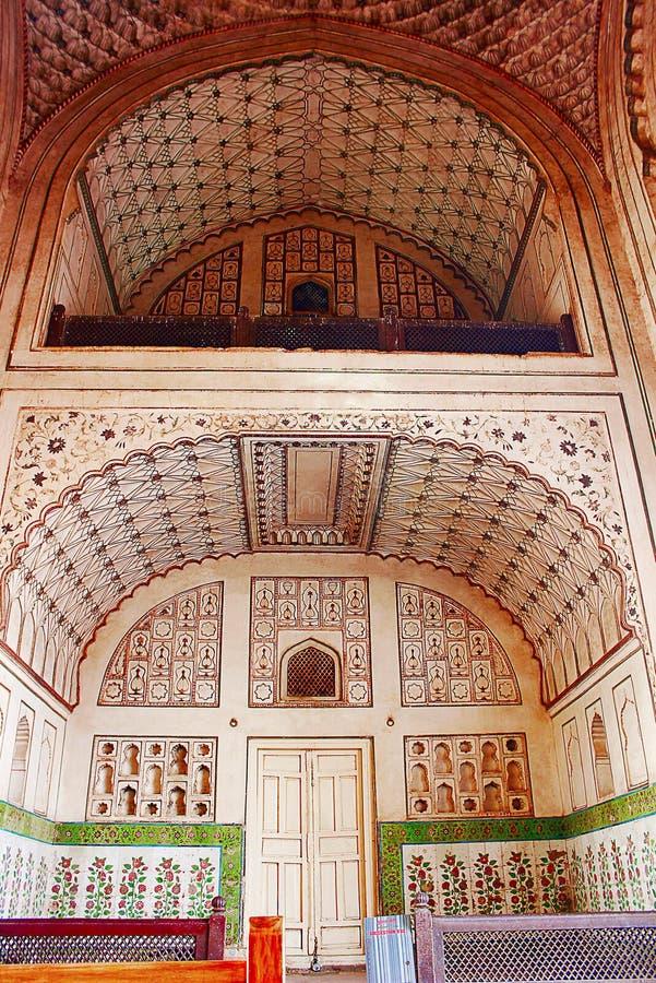 Dekorujący podsufitowi cyzelowania, Baradari Ka Aurangabad, maharashtra fotografia royalty free