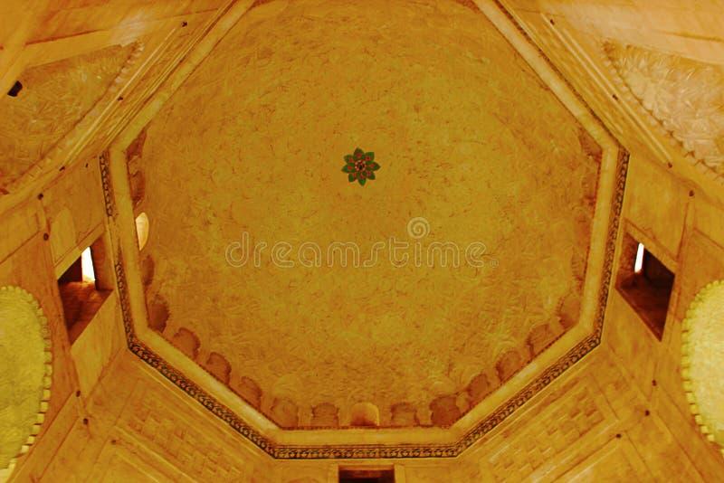 Dekorujący podsufitowi cyzelowania, Baradari Ka Aurangabad, maharashtra zdjęcia royalty free