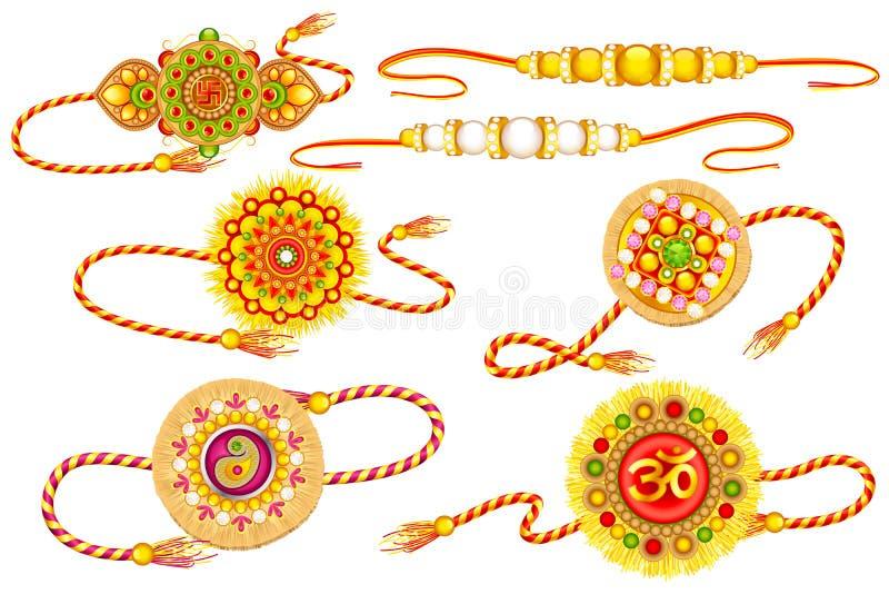 Dekorujący Rakhi royalty ilustracja