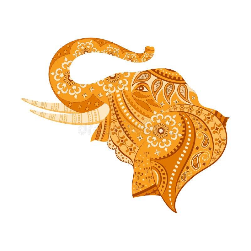 dekorujący słoń royalty ilustracja
