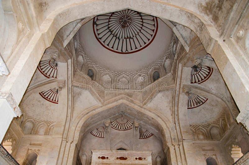 Dekorujący sufit Chaturbhuj świątynia Orchha Madhya Pradesh fotografia royalty free