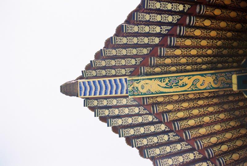 Dekoruje okapy w Niedozwolonym mieście zdjęcie royalty free
