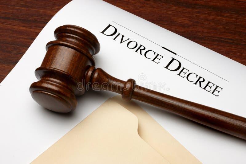 dekretu rozwód zdjęcia stock