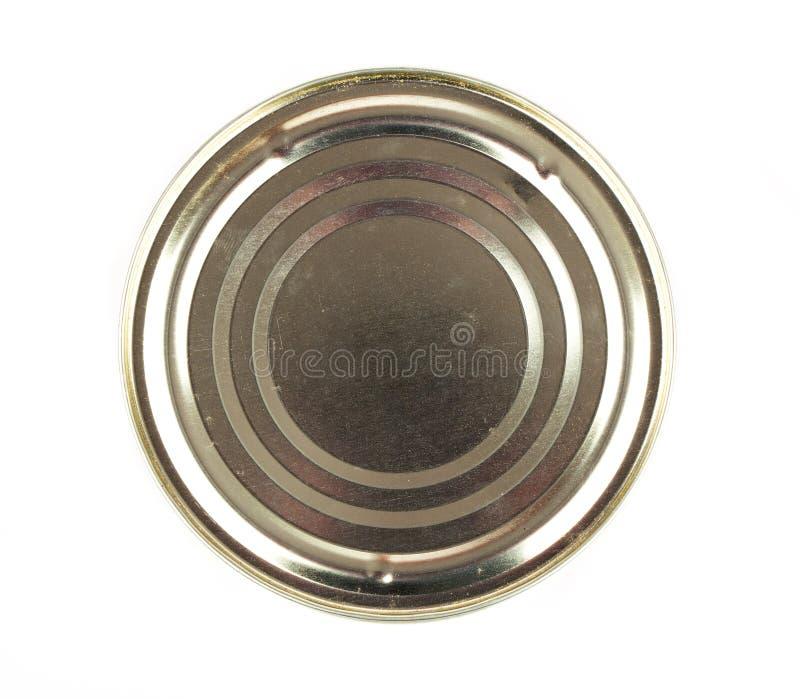 Deksel of Basis van Voedsel Tin Can royalty-vrije stock afbeeldingen