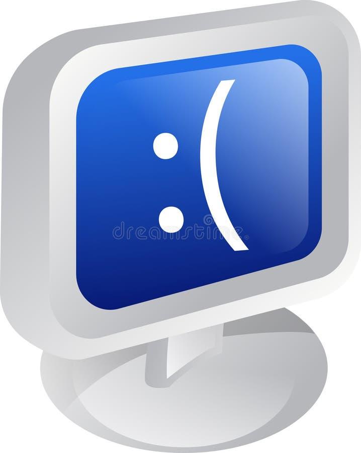 Dektop del ordenador ilustración del vector