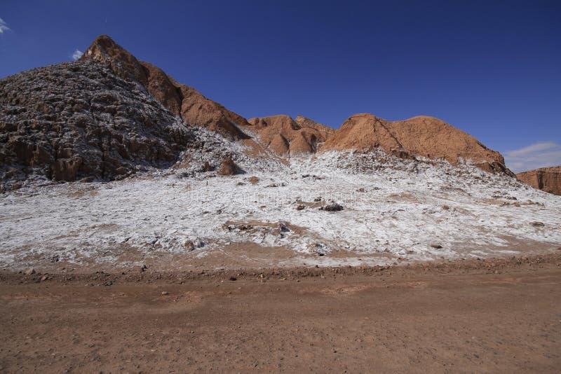 Del луна Valle - долина луны, в atacama, chile стоковые изображения