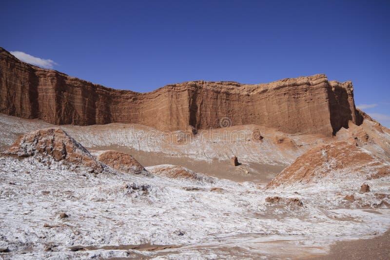 Del луна Valle - долина луны, в atacama, chile стоковое изображение rf