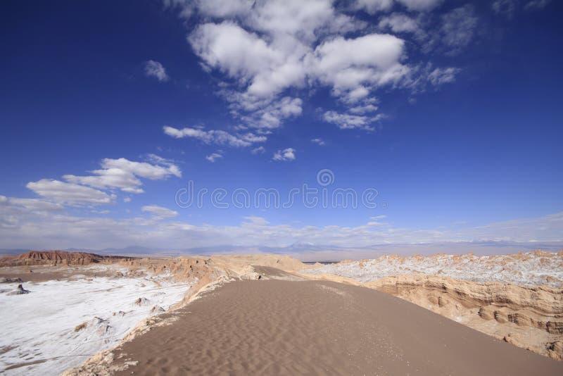 Del луна Valle - долина луны, в atacama, chile стоковые изображения rf