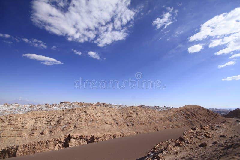 Del луна Valle - долина луны, в atacama, chile стоковая фотография rf