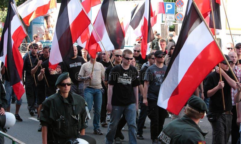 Del 03 dimostrazione del neonazi settembre 11 a Dortmund Germania fotografia stock libera da diritti