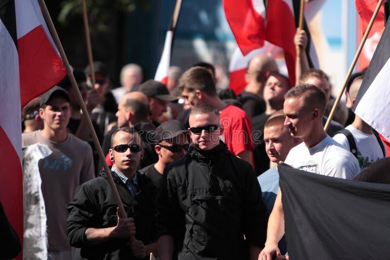 Del 03 versión parcial de programa del neonazi de sept. 11 en Dortmund Alemania fotografía de archivo libre de regalías