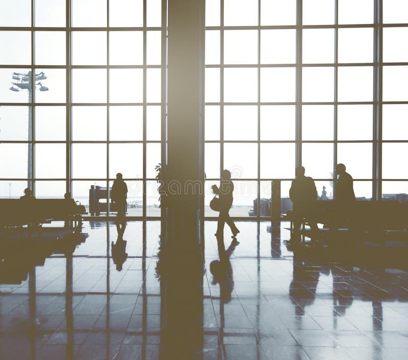 Del aeropuerto internacional del concepto de Malasia hombres de negocios imágenes de archivo libres de regalías