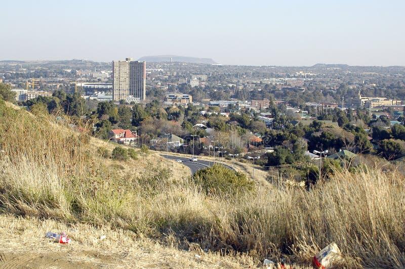 Del av Bloemfontein, som framgår av Naval Hill fotografering för bildbyråer