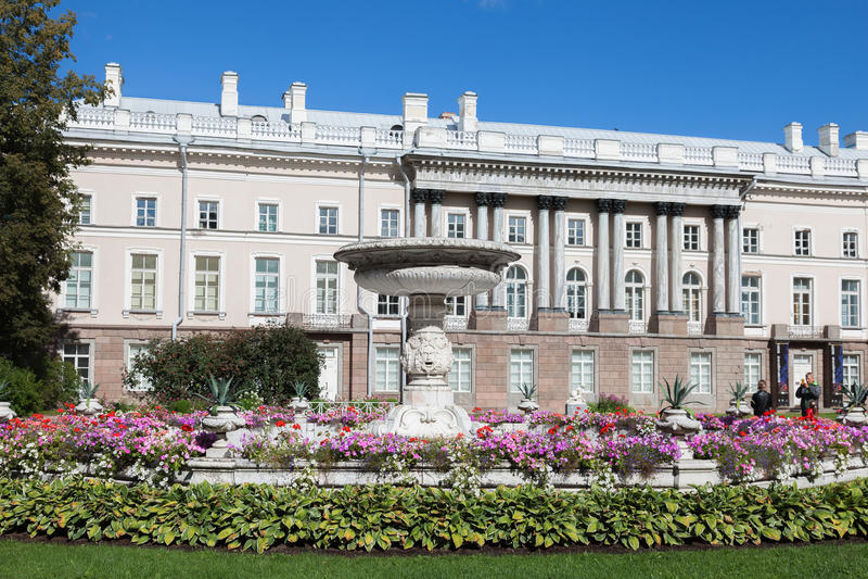 Del av den Catherine Palace - Zubov vingen i Tsarskoye Selo, St royaltyfria foton