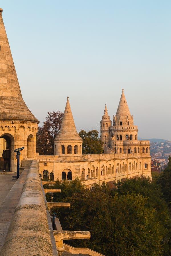 Del av den Fishermans bastionen i Budapest royaltyfria foton